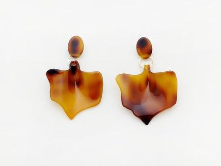 Valet Studio Flower Bud Earrings - Tortoise
