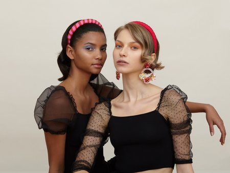 Valet Studio Keira Headband - Pink/Red