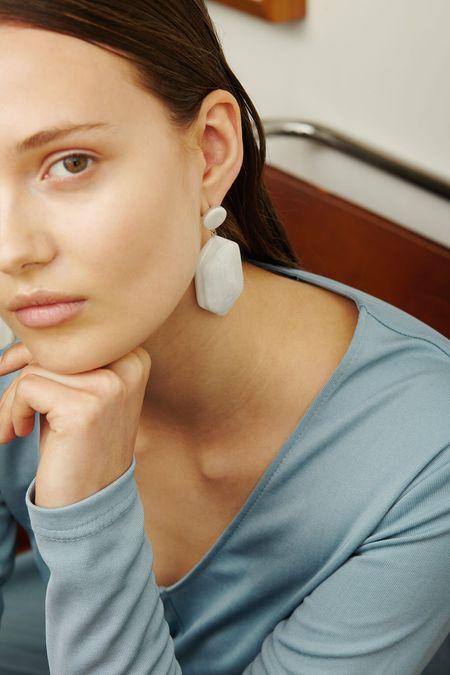 Valet Studio Natalia Earrings - White