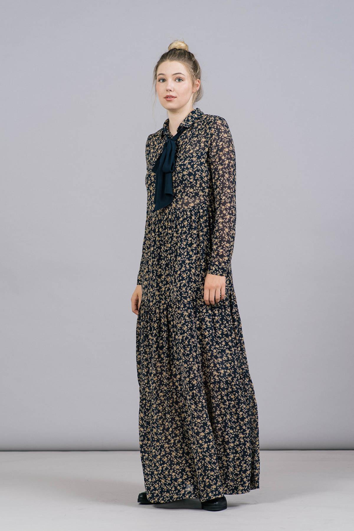 Ganni Bartlett Georgette Maxi Dress from REFINED | Garmentory