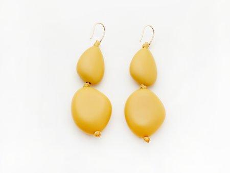 Valet Studio Pebble Earrings - Mustard