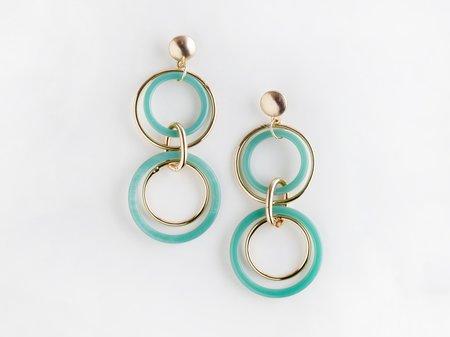 Valet Studio Trio Earrings - Aqua