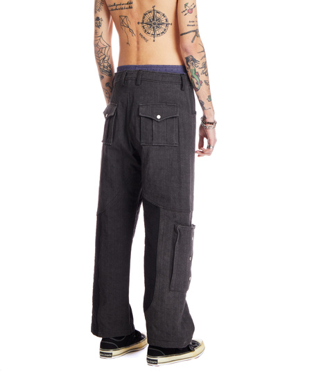 A-COLD-WALL* Denim Cargo Pants - Black