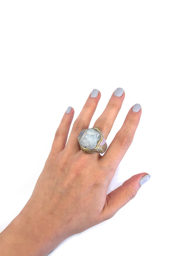 Adina Mills The Intuit Ring with Apophyllite Tip
