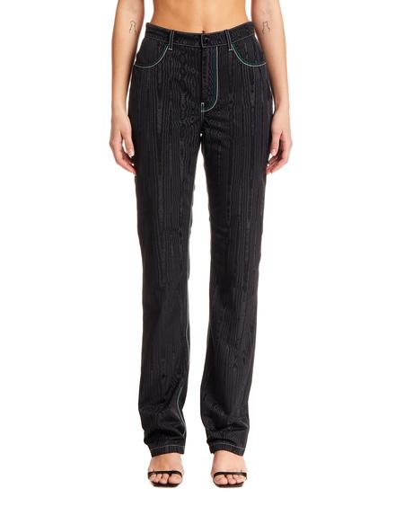 Marine Serre Wood Crepe Trousers - Black