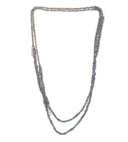 Arielle De Pinto 4-Tone Simple Necklace in Spectrum + Faded Silver