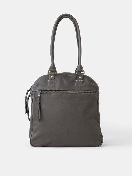 Erica Tanov Leather bowling bag - dark grey