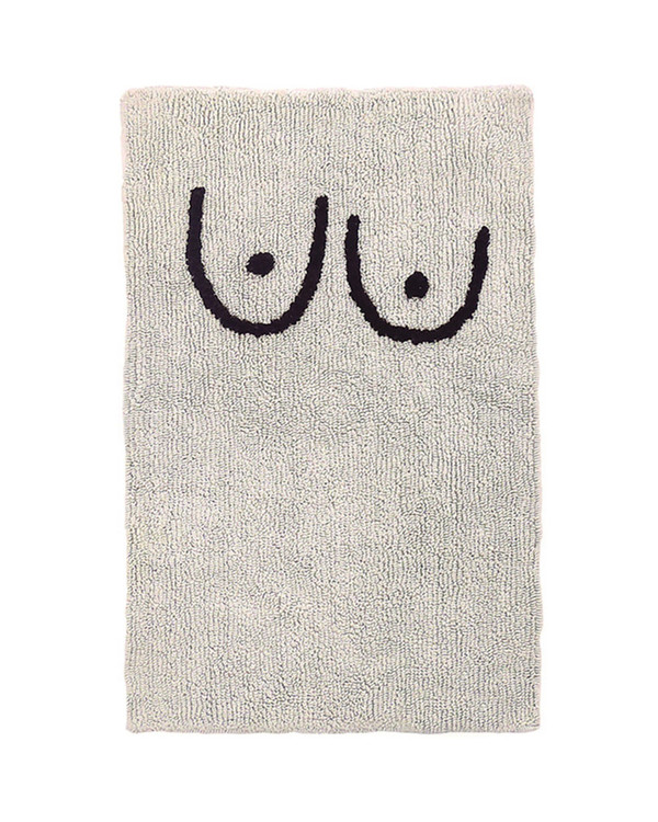 Cold Picnic Private Parts Bathmat with Boobs