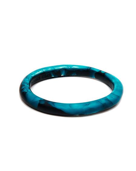 Dinosaur Designs Classic Wishbone Bangle in Moody Blue