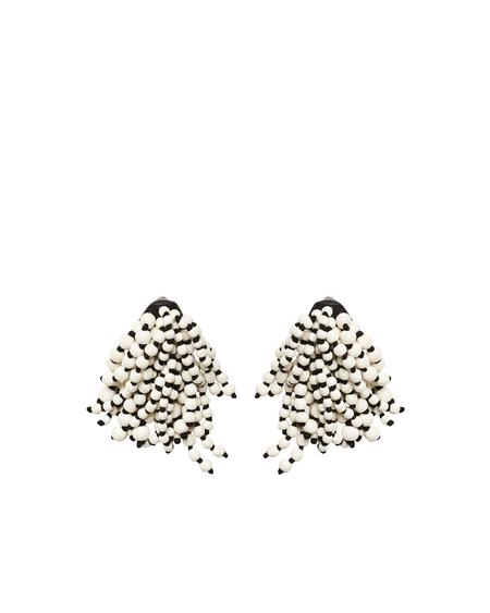 Monies Udine Multifrange Earrings - Black/White