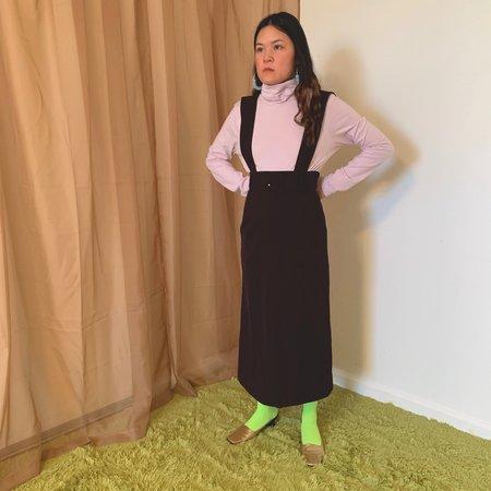 Vintage Kintsugi Overall Dress - Brown