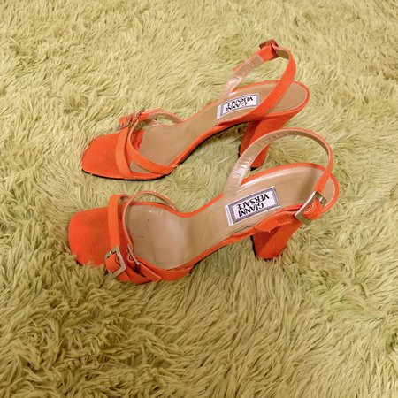 Vintage Gianni Versace Heels - Orange
