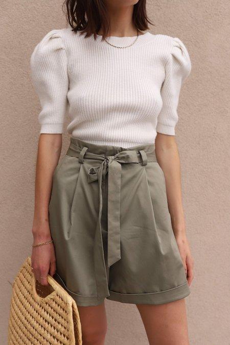 Wishlist Tie Waist Shorts - Olive