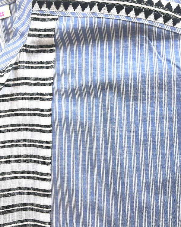 LemLem Mara Shirtdress in Blue