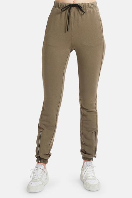 Cotton Citizen Milan Zip Jogger Pants - Moonrock