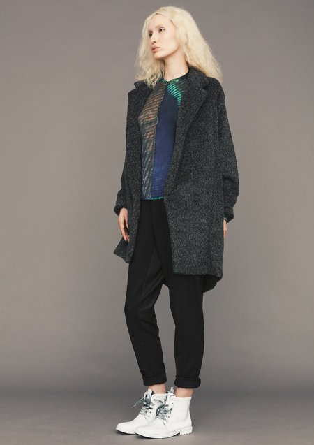 Berenik ALPACA SHAGGY COAT - dark grey
