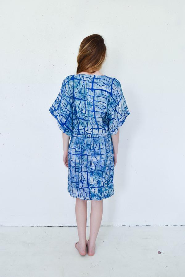 Osei-Duro Toss Kimono Dress in Waterbolt Print