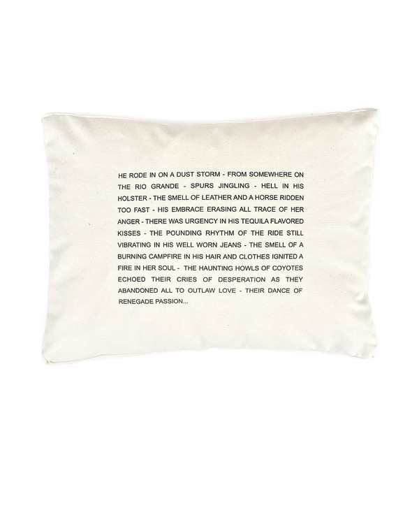 Pulpoetry Cowboy Pillow by Barbara Hill