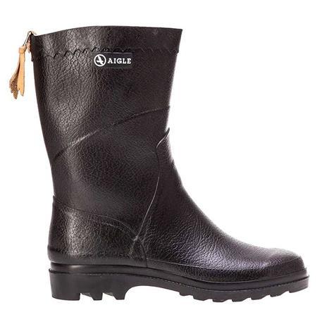 Unisex Aigle Bison Rubber Boots - Black