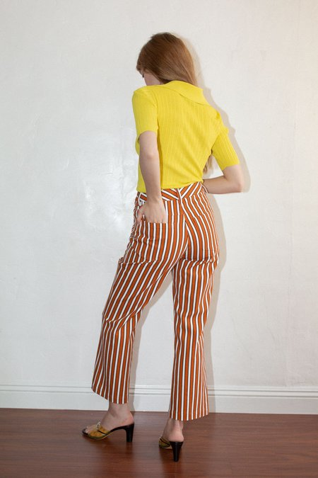 No.6 Tuesday Pant - Tobacco Stripe