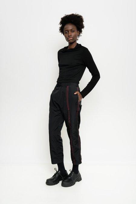 Uma Raquel Davidowicz Manta Stripped Nylon Tailored Pants