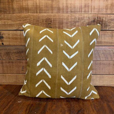 Bryar Wolf Arrows Mud Cloth Pillow - Mustard