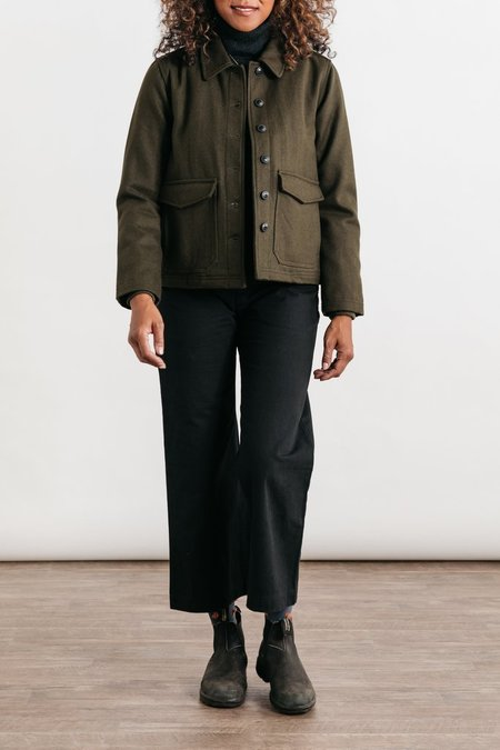 Bridge & Burn Noble Midweight Wool Jacket - Olive