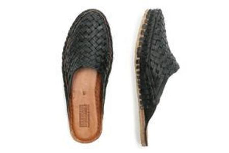 Mohinders Woven Iron-dyed Leather City Slippers Women's
