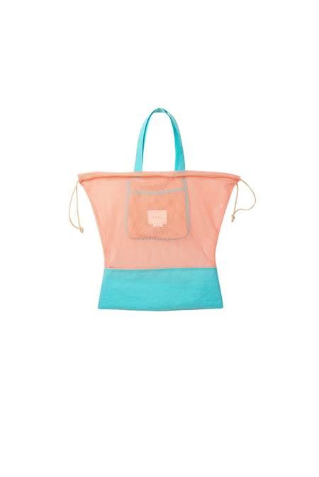 Neul Drawstring Mesh Bucket Bag - Papaya Punch/Island Paradise