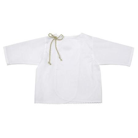 Kids Makié Makie Swiss Cotton Wrap Blouse - White