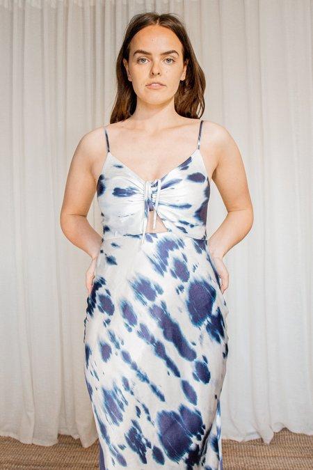 TIE DYE BIAS CUT SLIP DRESS BY SHONA JOY