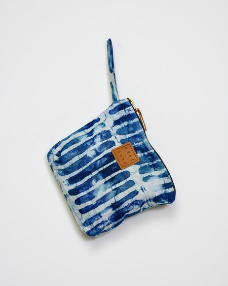 Osei-Duro STIBIO POUCH - blue hand dyed