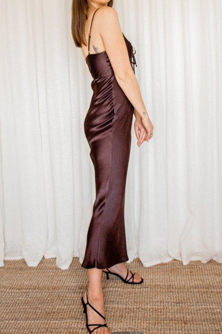 Shona Joy Wright Ruched Bias Slip Dress
