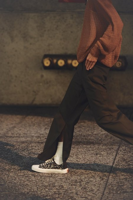 Marni Split Inseam Ripstop Wool Pleated Trouser - Olive