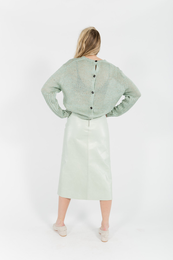 Maryam Nassir Zadeh Pia Panel Calf Skirt