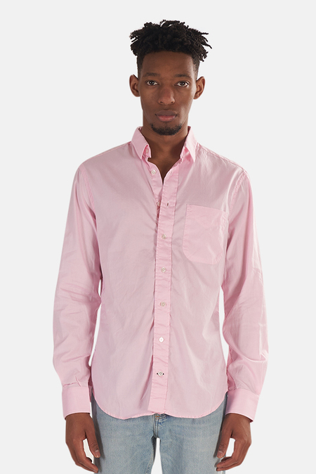 Blue&Cream Pinpoint Button Down Shirt - Pink Pinpoint
