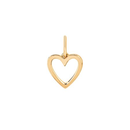 EF Collection Open Heart Charm Pendant - 14K Yellow Gold