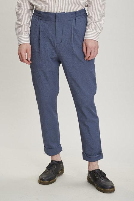 Delikatessen Seersucker Trousers - Blue