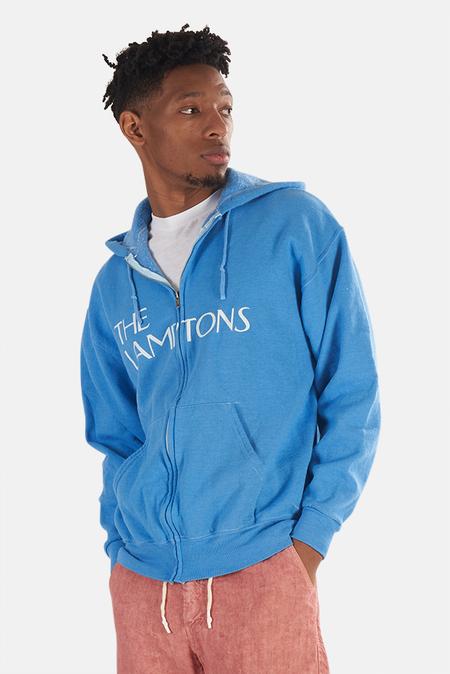 Blue&Cream Lamptons Hoodie Sweater - Blue/White