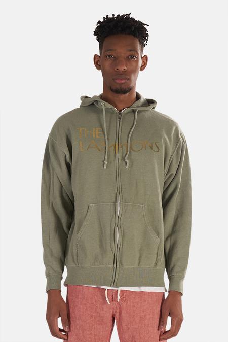 Blue&Cream Lamptons Hoodie Sweater - Green/Gold