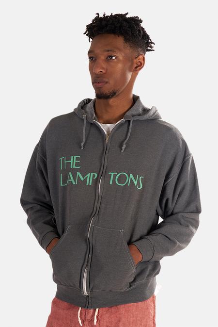Blue&Cream Lamptons Hoodie Sweater - Grey/Teal