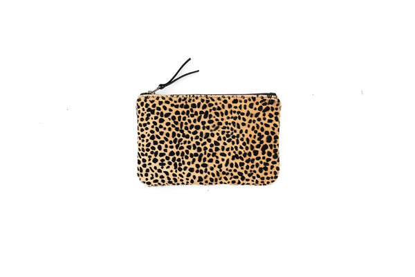 Primecut TINY SPOTTED COWHIDE MEDIUM POUCH