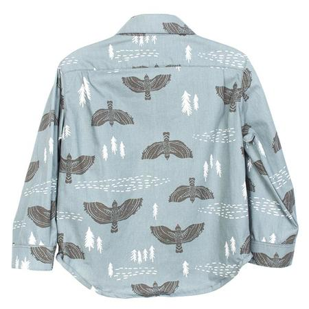 Kids Hopper Hunter by 18 Waits Baby And Child The Hopper Long Sleeved Shirt  - Above The Pines Blue