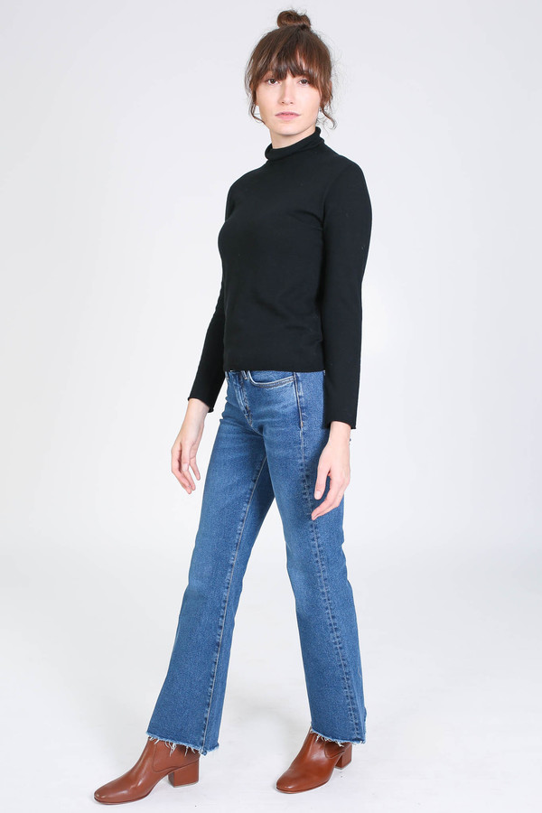 Evam Eva Cotton cashmere turtleneck in black