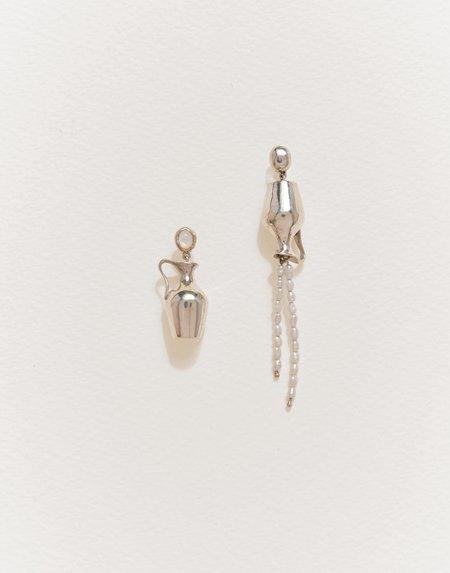 Pamela Love Vessel Earrings - Sterling Silver
