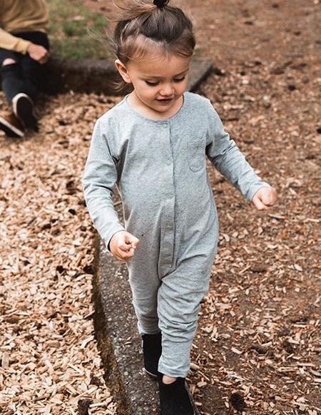 KIDS Gray Label Organic Playsuit - Grey