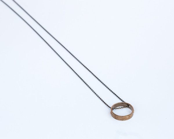 Covet + Keep Liza Necklace - Sterling Silver and Bronze
