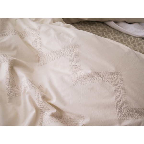 Erica Tanov embroidered zigzag duvet cover
