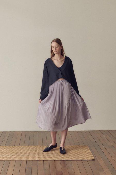Hidden Forest Market Fortuna Pleats Silky Skirt - Lilla