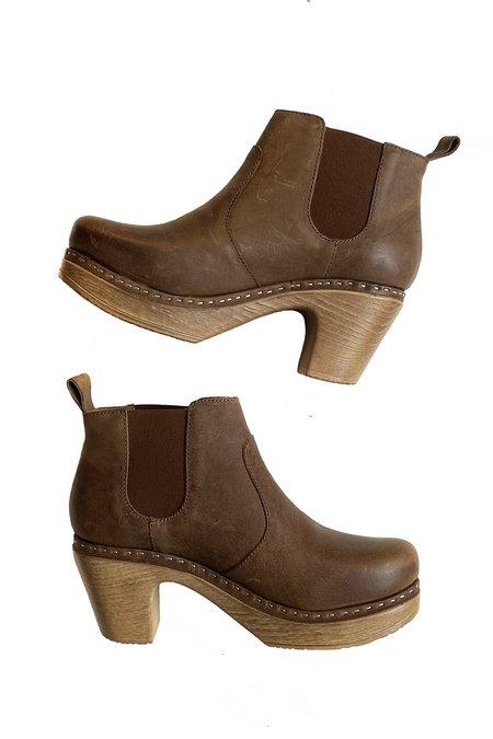 CALOU Doris Nubuck Leather Boot - Brown